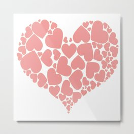 A Heart Full Of Love Pink Valentine Hearts Within A Heart Metal Print