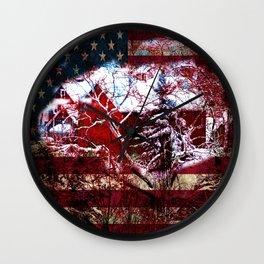 Patriotic American Barn Wall Clock