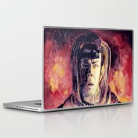 spock Laptop & iPad Skins featuring Spock  by margaw