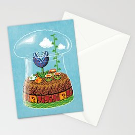 Toadstool Terrarium Stationery Cards