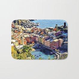 Cinque Terre Vernazza Village Mediterranean Coast, Italy Bath Mat