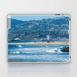 Rare view of Santa Monica, Pier & Pacific Palisades from Venice Pier Laptop & iPad Skin
