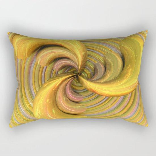 Golden Ribbons Rectangular Pillow