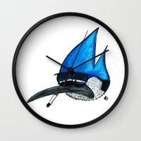 regular show Wall Clocks featuring Regular show by Bleachydrew