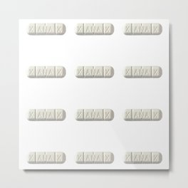 Xanax, Please - Simple Metal Print