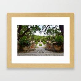 Staircase at Vizcaya Framed Art Print