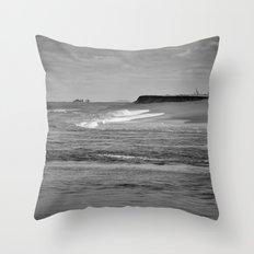 Next stop Antarctica Throw Pillow