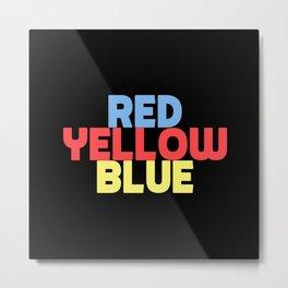 Red Yellow Blue Metal Print