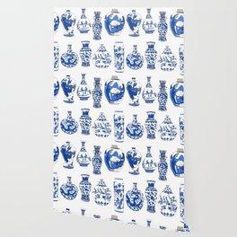 Blue Vases Wallpaper