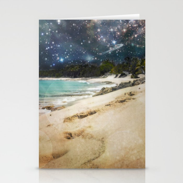 Midnight Beach Stationery Cards