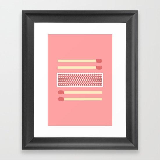 #75 Matches Framed Art Print