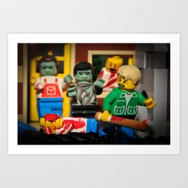 Night of the Lego Dead Art Print