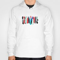 the strokes Hoodies featuring Paint Strokes by Allison Kiloh