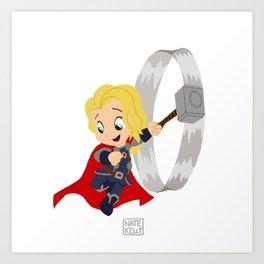Wittle Thor Art Print