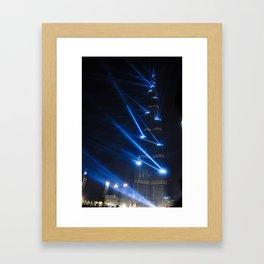 Burj Khalifa - Inauguration Day Jan 4, 2010 Framed Art Print