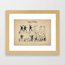 Happy Wedding Framed Art Print