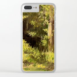 Woodland Landscape Nature Art Clear iPhone Case