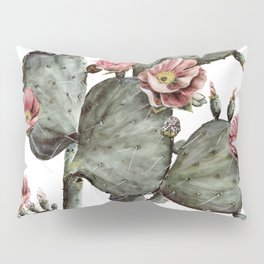 Prickly Pear Cactus Painting Pillow Sham