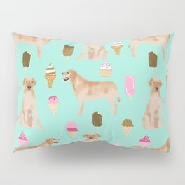 yellow lab ice cream dog breed pet portrait gifts for labrador retriever lovers Pillow Sham
