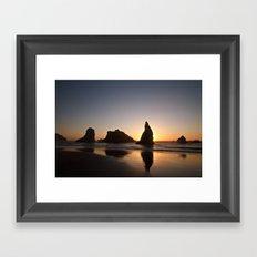 Bandon Sunset 3 Framed Art Print