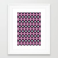 preppy Framed Art Prints featuring Preppy Argyle by markmurphycreative