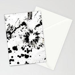 MONOCHROME SPLATTER Stationery Cards