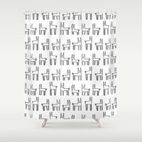 bunnies Shower Curtains featuring bunnies by Yes Menu