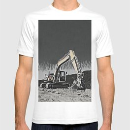 Wheel Tractor-scraper Whiteboard Child Draw Robotic Arm T-shirt