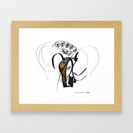 Thai elephant Framed Art Print