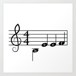 Angry Music Art Print