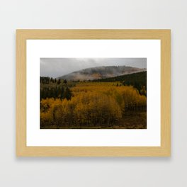 Fog over Kenosha Pass Framed Art Print