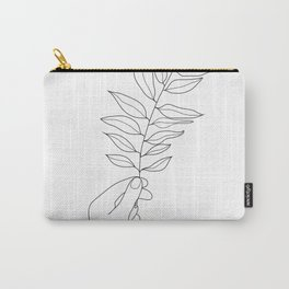 Minimal Hand Holding the Branch III Carry-All Pouch