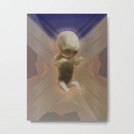 Ancient Baby Alien Metal Print