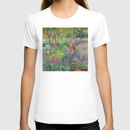 Claude Monet - The Iris Garden At Giverny T-shirt