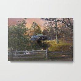 Winter Morning At Mabry Mill Metal Print