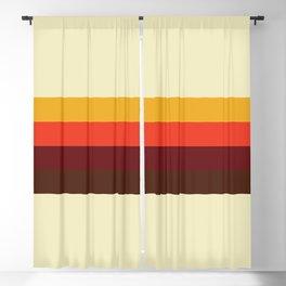 retro color palette Blackout Curtain