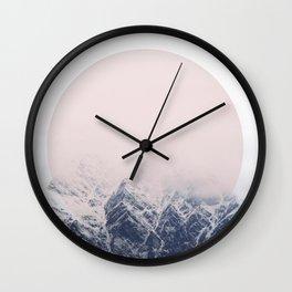 PINK SNOW Wall Clock