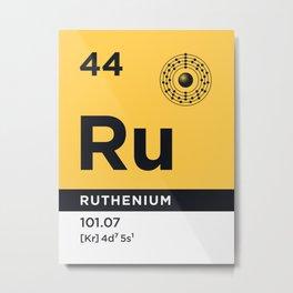 Periodic Element B - 44 Ruthenium Ru Metal Print