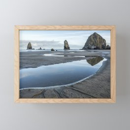Haystack and the Needles Framed Mini Art Print