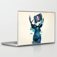 captain hook Laptop & iPad Skins featuring Captain Hook by Robert Farkas