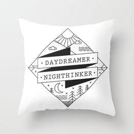 daydreamer nighthinker II Throw Pillow