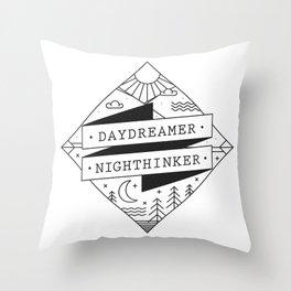 daydreamer nighthinker II Throw Pillow