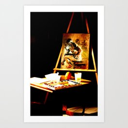 An Art Easel Art Print