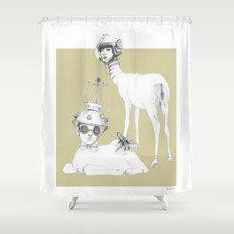 Weird & Wonderful: Space Deer Shower Curtain