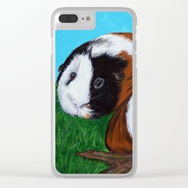 Guinea Pigs Painting Clear iPhone Case