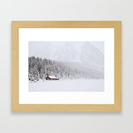 blinded by the white // lake louise Framed Art Print