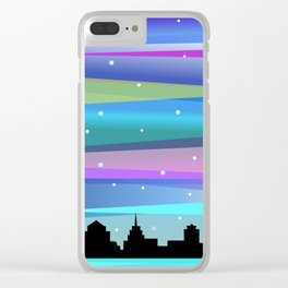 Winter Stripes Clear iPhone Case