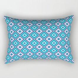 Blue Cubes - Geometric Work Rectangular Pillow