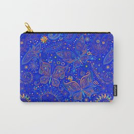 Blue Spring Butterfly Pattern Carry-All Pouch