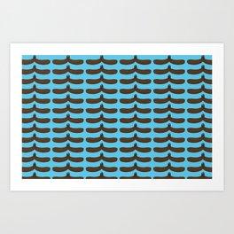 moustache handshake  Art Print